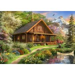 Bluebird-Puzzle-70118 A Log Cabin Somewhere in North America