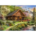 Bluebird-Puzzle-70118 A Log Cabin Somewhere in North America
