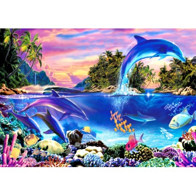 Bluebird-Puzzle-70132 Dolphin Panorama