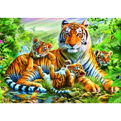 Bluebird-Puzzle-70137 Tiger And Cubs