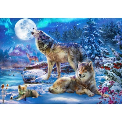 Bluebird-Puzzle-70147 Winter Wolf Family