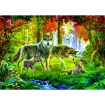 Bluebird-Puzzle-70156 Summer Wolf Family