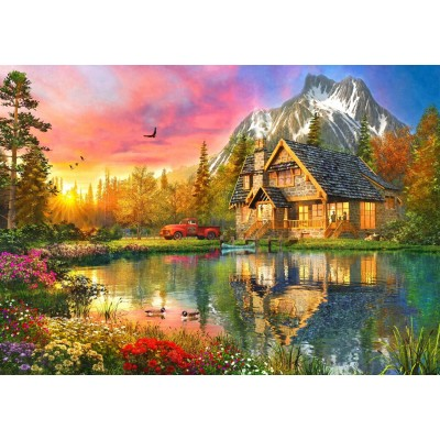 Bluebird-Puzzle-70164 The Mountain Cabin