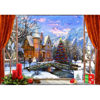 Bluebird-Puzzle-70190 Christmas Mountain View