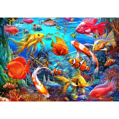 Bluebird-Puzzle-70192 Tropical Fish
