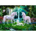 Bluebird-Puzzle-70193 Rainbow Unicorn Family