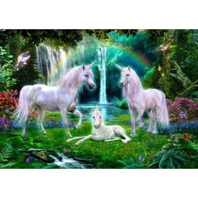 Bluebird-Puzzle-70193 Rainbow Unicorn Family