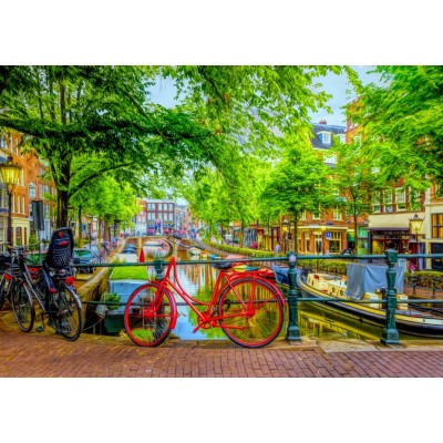 Bluebird-Puzzle-70211 The Red Bike in Amsterdam