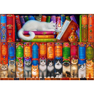 Bluebird-Puzzle-70216 Cat Bookshelf