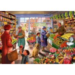Bluebird-Puzzle-70232-P Village Greengrocer