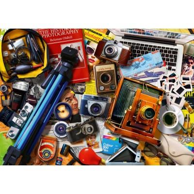 Bluebird-Puzzle-70240-P Retro Camera Tabletop