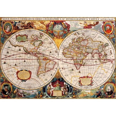 Bluebird-Puzzle-70246-P Antique World Map