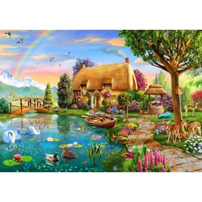 Bluebird-Puzzle-70254-P Lakeside Cottage