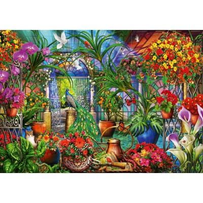 Bluebird-Puzzle-70258-P Tropical Green House