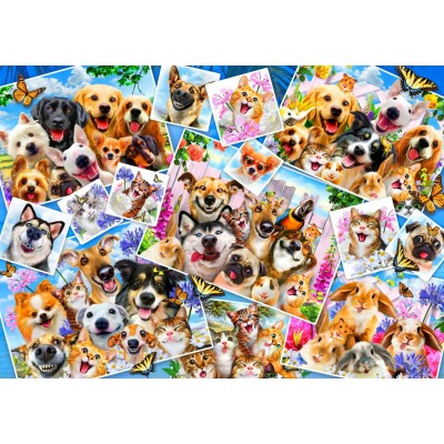 Bluebird-Puzzle-70283 Selfie Pet Collage
