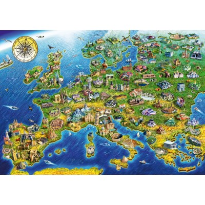 Bluebird-Puzzle-70322-P European Landmarks