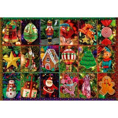 Bluebird-Puzzle-70325-P Festive Ornaments