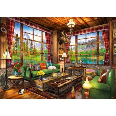 Bluebird-Puzzle-70336-P Mount Cabin View