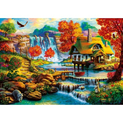 Bluebird-Puzzle-70339-P Country House by the Water Fall