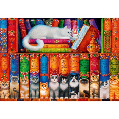 Bluebird-Puzzle-70344-P Cat Bookshelf