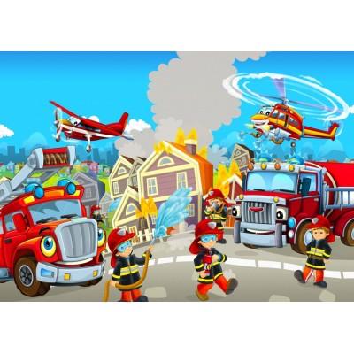 Bluebird-Puzzle-70362 Fire Rescue Team