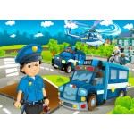 Bluebird-Puzzle-70363 Police Rescue Team