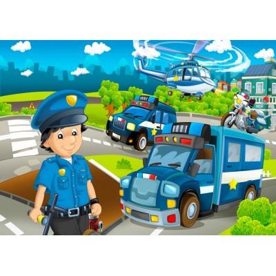 Bluebird-Puzzle-70363 Police Rescue Team