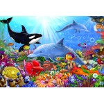 Bluebird-Puzzle-70384 Bright Undersea World