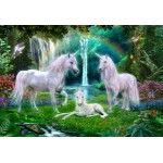 Bluebird-Puzzle-70386 Rainbow Unicorn Family