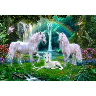 Bluebird-Puzzle-70386 Rainbow Unicorn Family