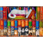 Bluebird-Puzzle-70396 Cat Bookshelf