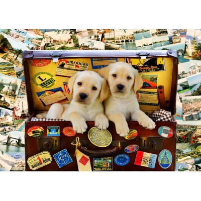 Bluebird-Puzzle-70398 Two Travel Puppies