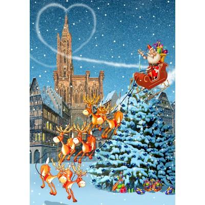Bluebird-Puzzle-70405 Cathédrale de Strasbourg à Noël