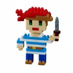 Brixies-38449022 Nano Puzzle 3D - Carte Pirate