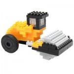 Brixies-38449141 Nano Puzzle 3D - Rouleau Compresseur JCB