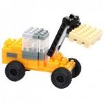 Brixies-38449143 Nano Puzzle 3D - Chariot Elevateur JCB