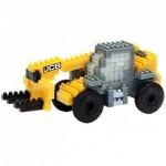 Brixies-38449144 Nano Puzzle 3D - JCB Chariot Télescopique