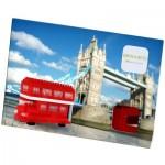 Brixies-38449201 Nano Puzzle 3D - Carte Bus Anglais