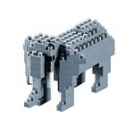 Brixies-57919 Nano Puzzle 3D - Eléphant