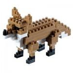 Brixies-58112 Nano Puzzle 3D - Renard