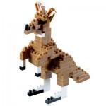 Brixies-58246 Nano Puzzle 3D - Kangourou