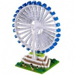 Brixies-58368 Nano Puzzle 3D - Singapore Flyer (Level 5)