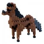 Brixies-58428 Nano Puzzle 3D - Cheval