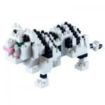 Brixies-58431 Nano Puzzle 3D - Tigre