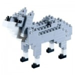 Brixies-58433 Nano Puzzle 3D - Loup