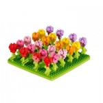 Brixies-58653 Nano Puzzle 3D - Champ de Tulipes (Level 3)