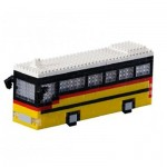 Brixies-58718 Nano Puzzle 3D - Bus Suisse (Level 3)