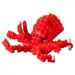 Brixies-58727 Nano Puzzle 3D - Pieuvre