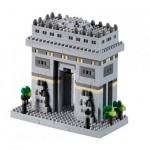 Brixies-58731 Nano Puzzle 3D - Arc de Triomphe (Level 3)