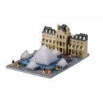 Brixies-58734 Nano Puzzle 3D - Musée du Louvre (Level 3)